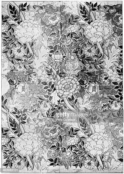 Norwich pattern wallpaper 1889 Working drawing by William Morris From The Listener 14 February 1934