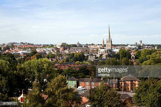 norwich seen from mousehold heath - east anglia stock pictures, royalty-free photos & images