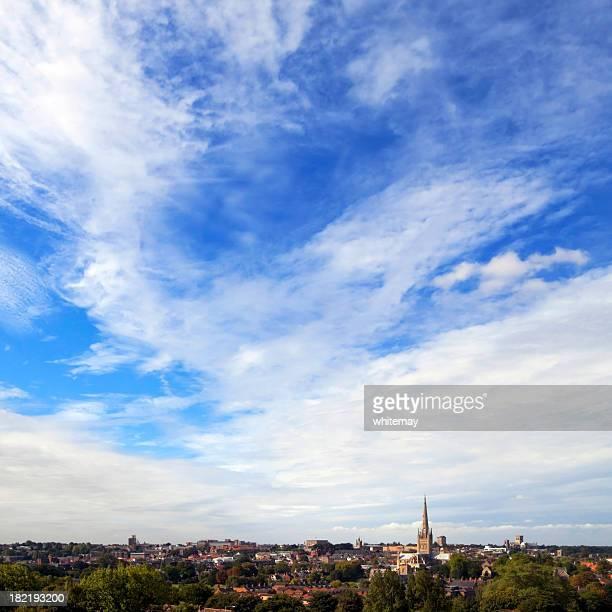Norwich skyline from Mousehold Heath