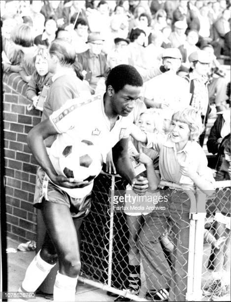 Norwich's Striker Justin Fashanu May 24 1979