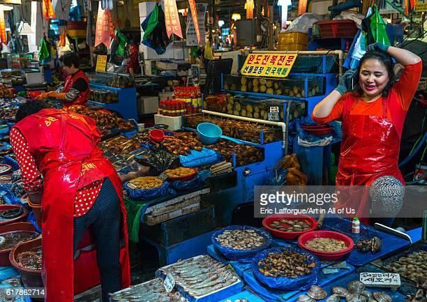 Noryangjin fisheries wholesale market national capital area seoul South Korea on May 18 2016 in Seoul South Korea