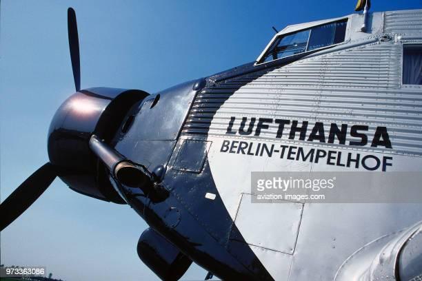 nose of Lufthansa Traditionsflug Junkers Ju52 named 'Berlin Templehof'