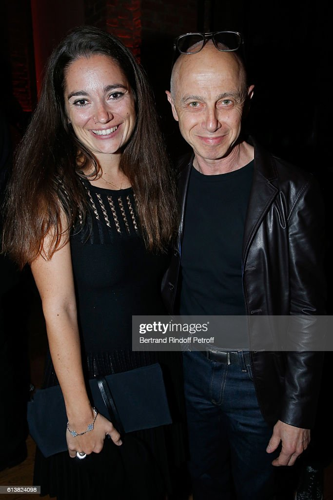 Nose of the Perfume, Marie Salamagne and artist Martin Szekely attend Azzedine Alaia presents his new Perfume 'Alaia Eau de Parfum Blanche'. Held at Azzedine Alaia Gallery on October 10, 2016 in Paris, France.