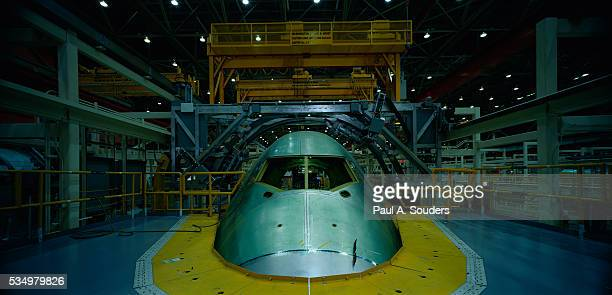 Nose Section of Boeing 747 on Production Line