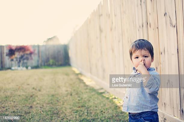 Nose-picking toddler
