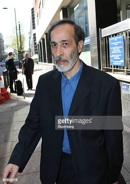 Nosratollah Tajik a former Iranian ambassador to Jordan leaves the City of Westminster magistrates court in London UK Thursday April 19 2007 Tajik is...