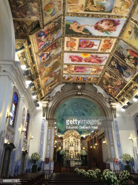 Nossa Senhora do Brasil church with fake Sistine Chapel in the ceiling This church is the most disputed among brides in São Paulo It's also a tourist...