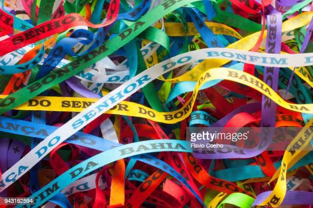 Nosso Senhor do Bonfim ribbons pattern texture