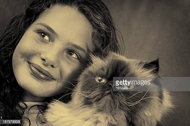 nostalgic beauty - persian girl stock photos and pictures