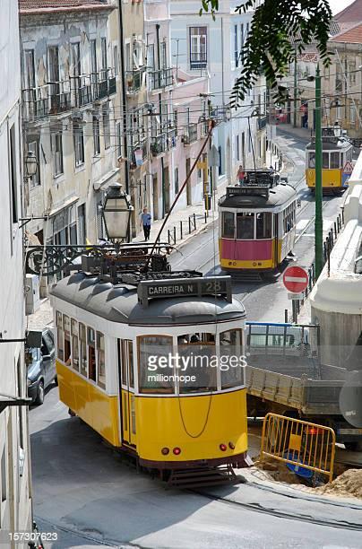 nostalgic trams in lisbon