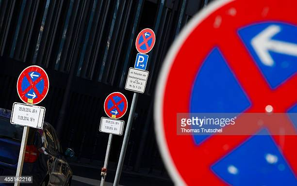 Nostopping signs on a street on September 04 in Berlin Germany Photo by Thomas Trutschel/Photothek via Getty Images