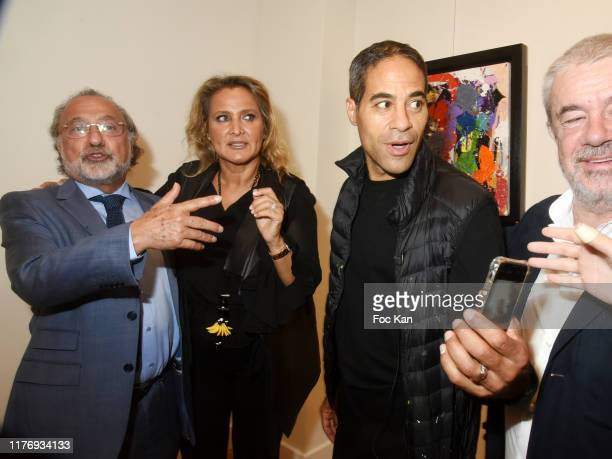 Not A Gallery director Natacha Dassault Street Painter JonOne and Olivier Dassault attend JonOne Paintings Exhibition Preview Hosted by Natacha...