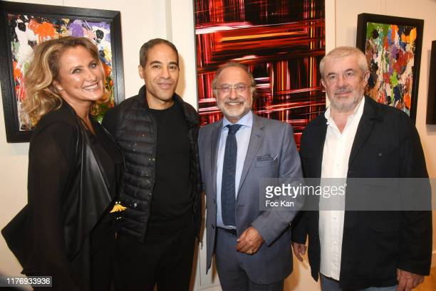 Not A Gallery director Natacha Dassault Street Painter JonOne Olivier Dassault and Jean Louis Haguenauer attend JonOne Paintings Exhibition Preview...