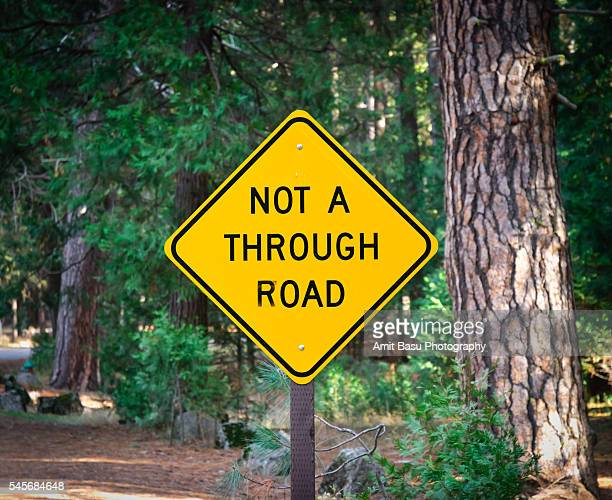 'Not a Through Road' sign