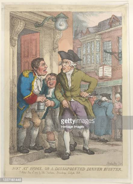 Not at Home or a Disappointed Dinner Hunter June 13 1823 Artist Thomas Rowlandson