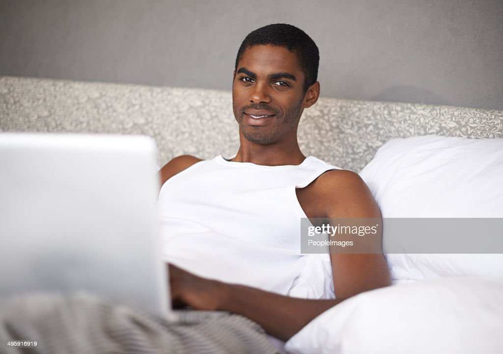 Not getting out of bed this Saturday : Stock Photo