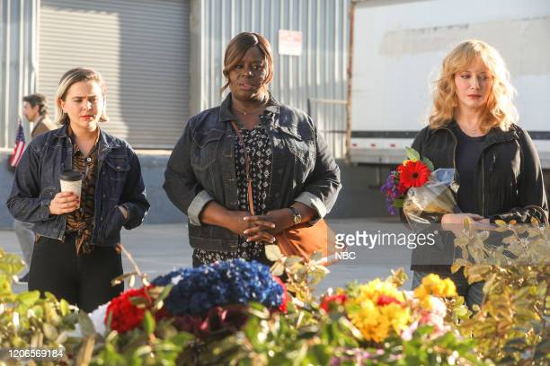 "Not Just Cards"" Episode 302 -- Pictured: Mae Whitman as Annie Marks, Retta as Ruby Hill, Christina Hendricks as Beth Boland --"