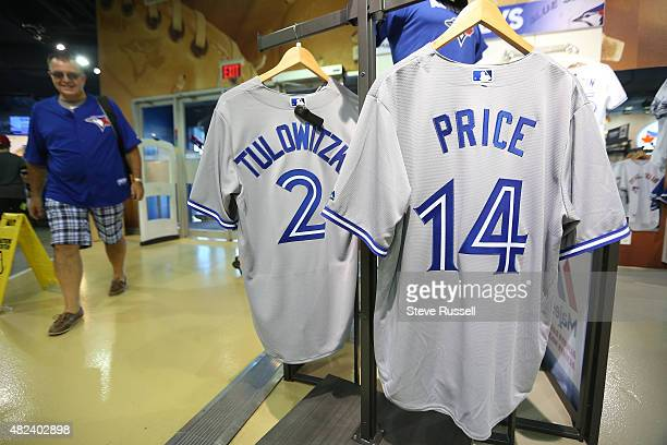 TORONTO ON JULY 30 Not long after Toronto Blue Jays General Manager Alex Anthopoulos announces his trade with the Detroit Tigers for starting pitcher...