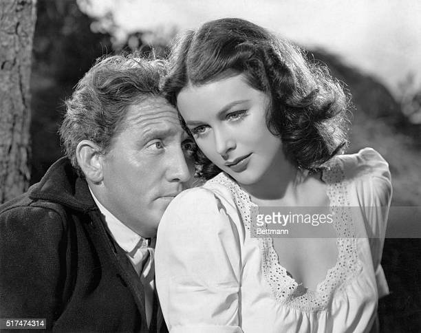 Not Lovers, But Rivals! ...are Spencer Tracy and Hedy Lamarr in Metro-Goldwyn-Mayer's picturization of John Steinbeck's hilarious novel, Tortilla...