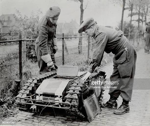 Not much bigger than a Christmas toy but deadly this beetle tank was sent into Allied lines loaded with TNT The device is machine controlled
