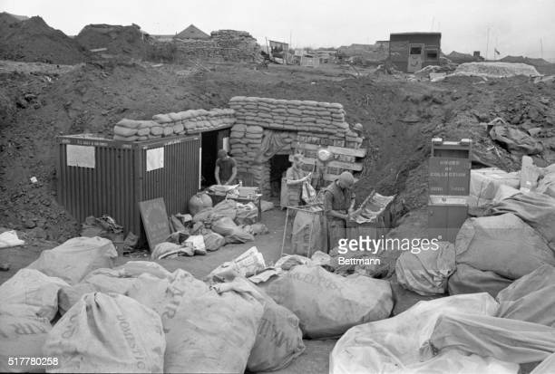Not Rain Snow or War Khe Sanh South Vietnam Will stop the US mail Proving it is this frontline post office set up behind bunkers at Khe Sanh where...