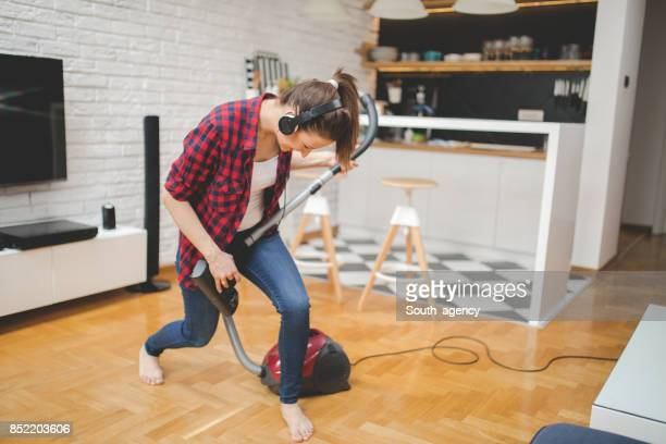 not the way it should be cleaned - tv housewife stock photos and pictures