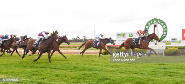 Not to Know ridden by Chris Caserta wins Save the Date Emmetts John Deere BM64 Handicap at Warracknabeal Racecourse on August 04 2017 in...