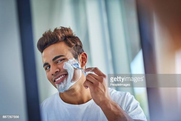 not today beard - shaving cream stock photos and pictures
