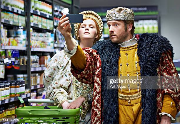 #not too royal to shop! - queen royal person stock pictures, royalty-free photos & images