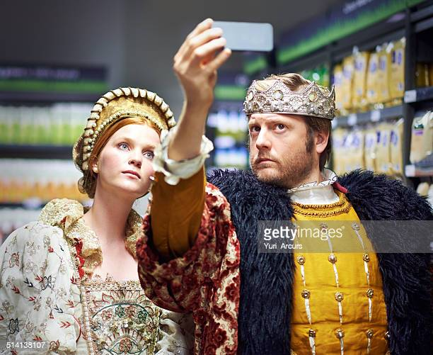 #not too royal to shop! - king royal person stock photos and pictures