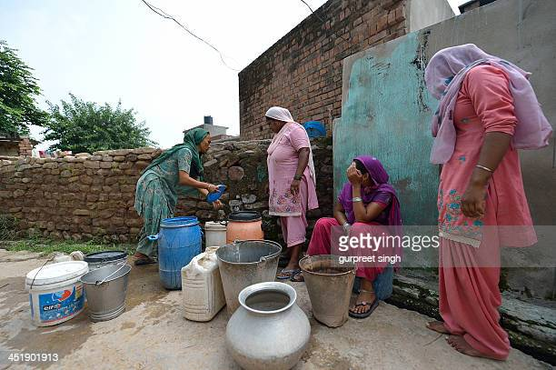 Not very far from Chandigarh, a modern city,...this is village Perch, where even today, people do not get regular water supply in their homes...and...