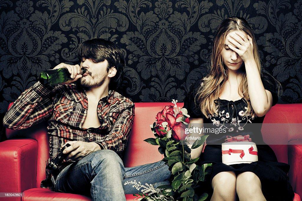 No muy feliz St. Valentine día : Foto de stock