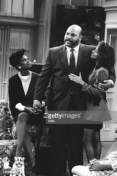 AIR 'Not With My Pig You Don't' Episode 4 Pictured Janet Hubert as Vivian Banks James Avery as Philip Banks Karyn Parsons as Hilary Banks Photo by...
