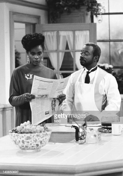 AIR Not With My Pig You Don't Episode 4 Pictured Janet Hubert as Vivian Banks Joseph Marcell as Geoffrey Photo by Ron Tom/NBCU Photo Bank