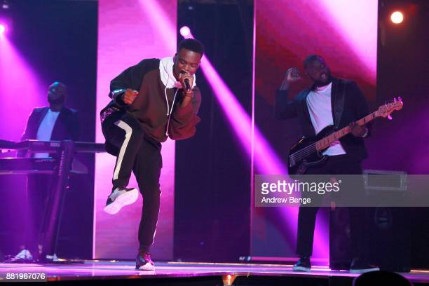 Not3s performs on stage at the MOBO Awards at First Direct Arena Leeds on November 29 2017 in Leeds England
