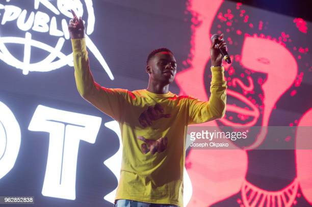 Not3s performs on stage during AFROREPUBLIK festival at The O2 Arena on May 26 2018 in London England