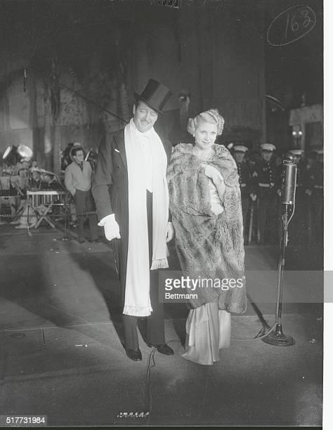 Notables at Opening of Cavalcade at Grauman's Chinese Theater Hollywood California Hollywood California Edmund Low and Lilyan Tashman Miss Tashman...