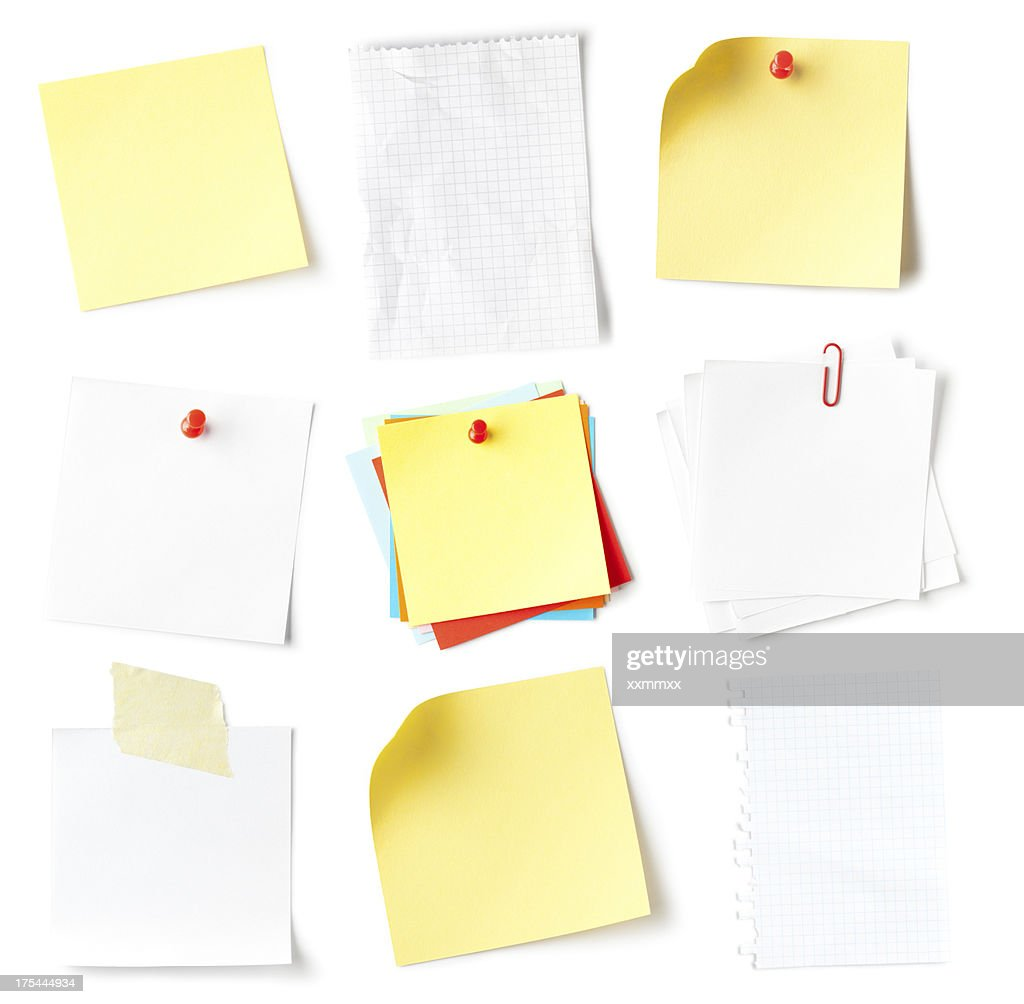 Note collection : Stock Photo