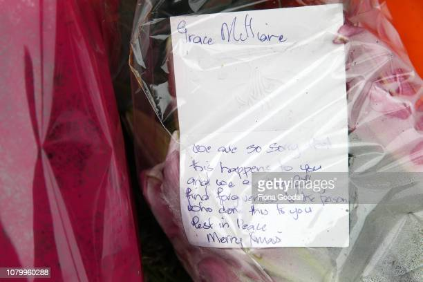 A note left on flowers as a tribute to Grace Millane on December 10 2018 in Auckland New Zealand The body of 22yearold Grace Millane was found in a...