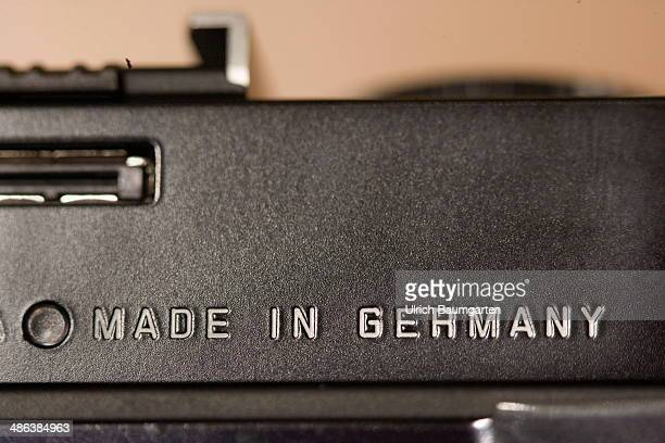 Note MADE IN GERMANY on a Leica camera on April 17 2014 in Bonn Germany