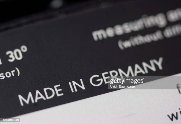 Note MADE IN GERMANY on a photo light meter on April 17 2014 in Bonn Germany