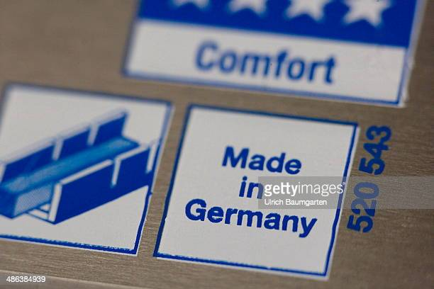 Note MADE IN GERMANY on a saw on April 17 2014 in Bonn Germany