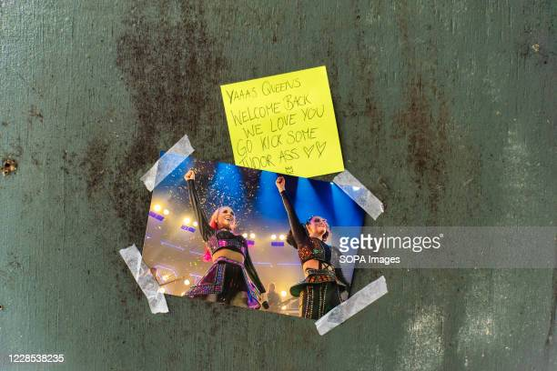 Note on the theatre door left by a fan of the musical Six. The show Six, in which Henry VIIIs wives return from the dead to give a pop concert aims...
