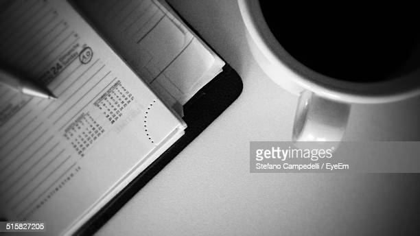 Note Pad And Coffee Cup