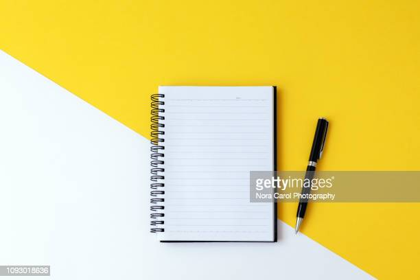 note pad and pen - lined paper stock pictures, royalty-free photos & images