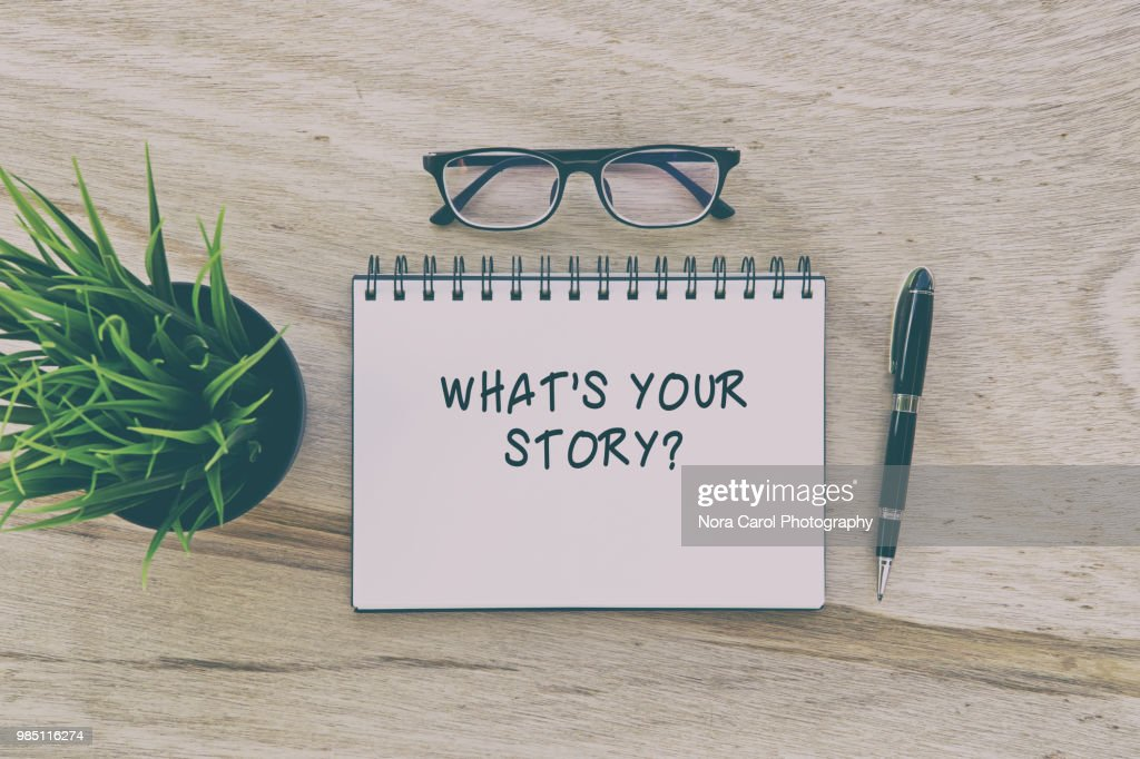 Note Pad with word what's your story? : Stock Photo