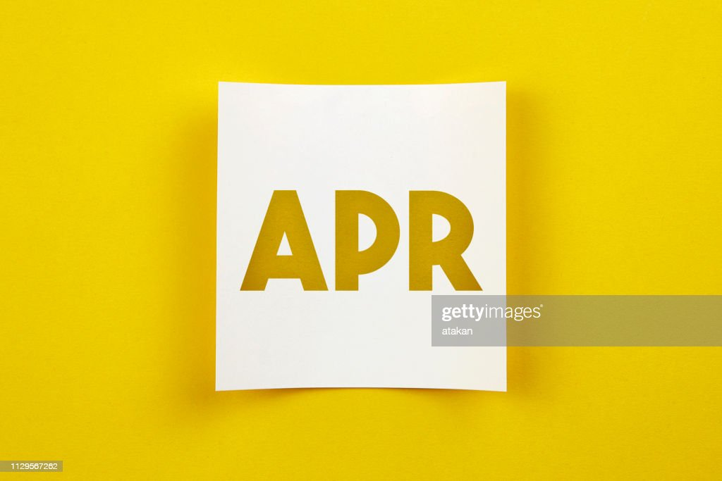 Note paper with April word on it : Stock Photo