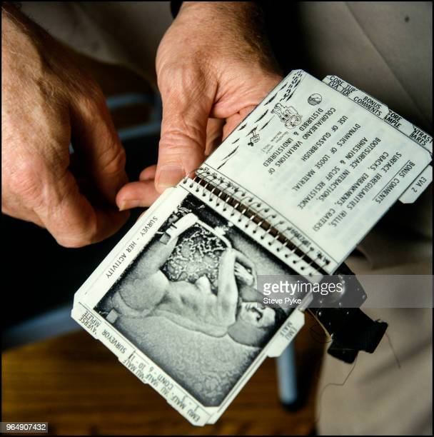 A notebook belonging to American astronaut Alan Bean Houston Texas 23rd July 1998 The notebook details a checklist of tasks to be carried out while...
