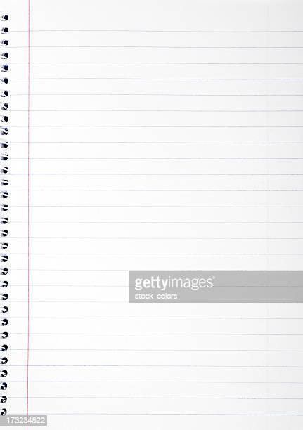 notebook - lined paper stock photos and pictures