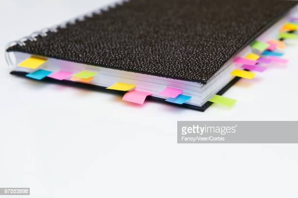 Notebook with Multiple Pages Marked